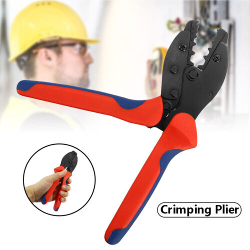0.1-16mm² Ratchet Crimper Cable Wire Terminals Electrical Plier Crimping Tool BF