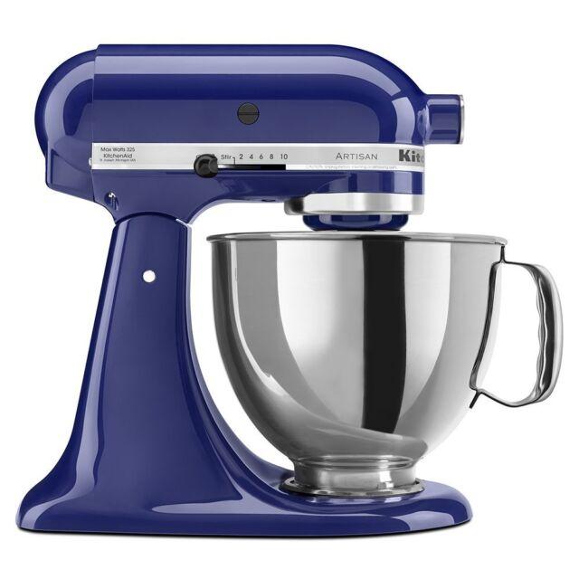 New/Sealed KitchenAid Artisan KSM150PS 5-Quart Stand Mixers All Metal - Blue
