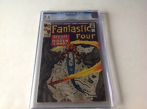 FANTASTIC-FOUR-47-CGC-7-5-OW-WHITE-PAGES-INHUMANS-HIDDEN-LAND-COVER-1966-MARVEL