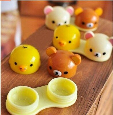 San-X Rilakkuma Bear Cute Contact Lens Case Container holder Kawaii trinket box