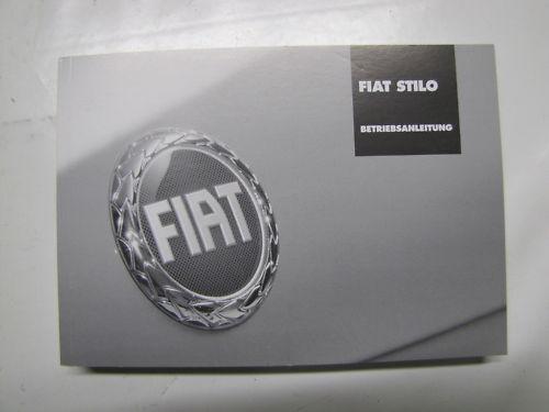 Fiat Stilo ANLEITUNG Betriebsanleitung  60345914