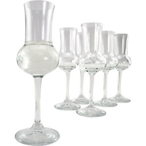 Italian-Grappa-Glasses-Set-of-6-2-75-oz-Home-Bar-Glassware-Italy-Spirits