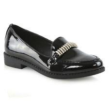 bb9163707aa3b item 4 Womens Black Loafers Shoes Ladies Slip On Diamante Office Work  School Pumps -Womens Black Loafers Shoes Ladies Slip On Diamante Office  Work School ...