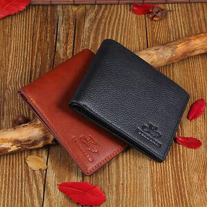 Porte carte en pu cuir homme credit de visite portefeuille etui porte monnaie ebay - Porte carte de visite cuir ...