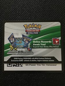 Pokemon-Venusaur-EX-XY28-TCGO-Online-Promo-Code