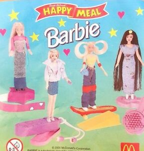 McDonalds-Happy-Meal-Toy-2000-Barbie-Doll-Character-Figures-Toys-Various