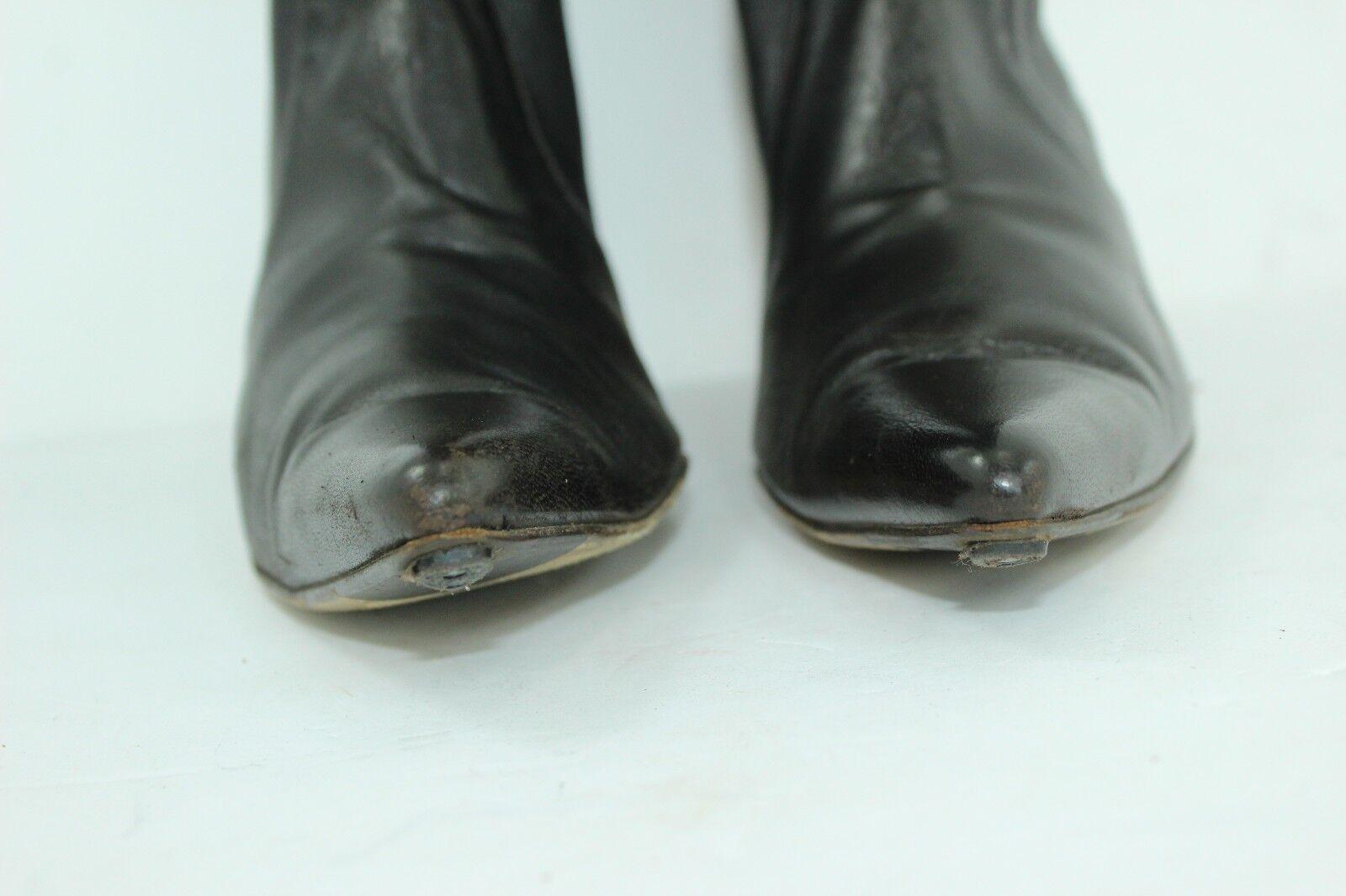Cole Haan botas talla 8B 8B 8B Cuero Spandex marróns Oscuro en gran condición 31ec2b