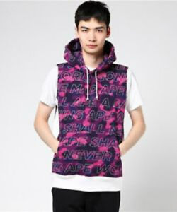 24bb69e6eea7 A BATHING APE TEXT COLOR CAMO PULLOVER HOODIE VEST FROM JAPAN BAPE ...