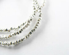 Karen Hill Tribe Silver 300 Faceted Seed Beads 1.4 mm.13 inches