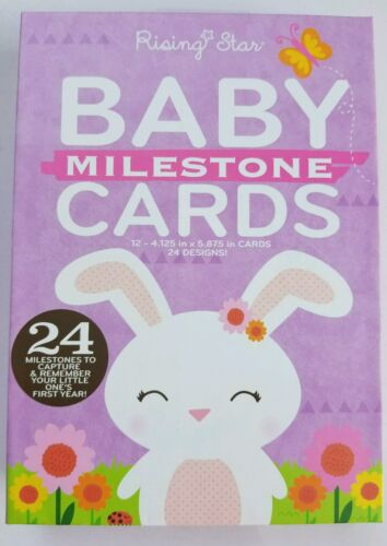Baby Milestone Cards Set of 24 Designs New Memory Sharing for Family /& Friends