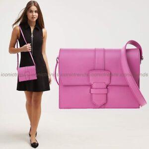 NWT-BOXED-1450-Salvatore-Ferragamo-Small-Pink-Leather-Crossbody-Bag-Anemone