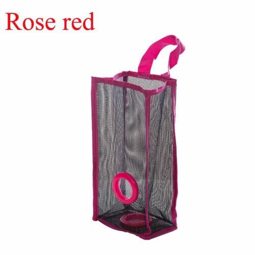 Organizer Practical Plastic Breathable Mesh Hanging Holder Garbage Bag Storage