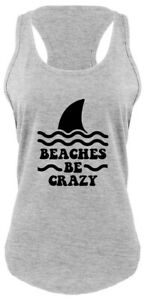 f722aea1 Beaches Be Crazy Funny Ladies Tank Top Beach Vacation Summer Graphic ...