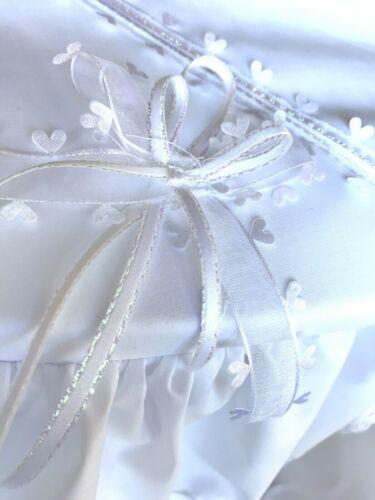 WHITE PRAM SUN CANOPY AND PRAM SET TO FIT SILVER CROSS AND COACH BUILT  PRAMS