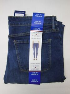 heroína esponja entidad  TOMMY HILFIGER Mid Rise Skinny Women's bright blue wash Jeans -- Size 10 --  NEW 192114120061   eBay