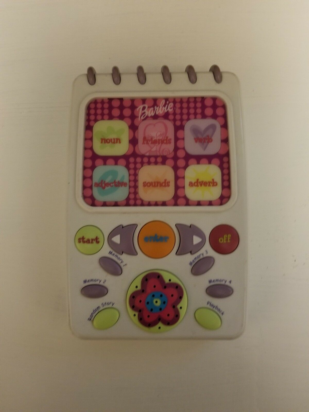 Barbie Mattel KidDesigns Educational Learning Language Arts Handheld Battery...
