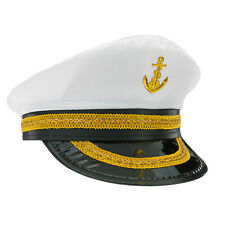 Pirate Accessory Costume Peaked Cap With Braid Fancy Dress Sea Captain Hat