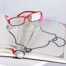 Black Butler Grell Sutcliff  Red Skull Chain Glasses Cosplay Accessorie Prop