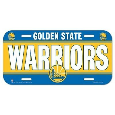 2018 NBA Champions Golden State Warriors Plastic License Plate Back to Back