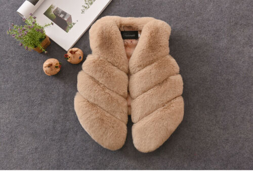 Baby Girl Faux Fur Vest Autumn Winter Thick Warm Waistcoat Kid Outerwear Clothes