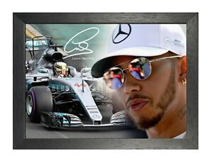 Lewis Hamilton 4 British Racing Driver Poster Sport Star Photo Formula One Sign