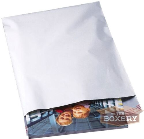 100-5x7 WHITE POLY MAILERS ENVELOPES BAGS 5 x 7-2.5MIL from The Boxery
