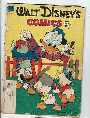 Walt Disney's Comics & Stories # 162 Gd Dell Comic Book Donald Duck Nephews Jl1 To Win A High Admiration And Is Widely Trusted At Home And Abroad. Other Bronze Age Comics Collectibles