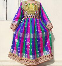 Kuchi Afgano Banjara Tribal Boho Hippie Estilo Nuevo Étnico Vestido ND-189