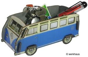 VW-Bus-T1-Minibox-Ordnungsbox-Samba-Blau-NEU