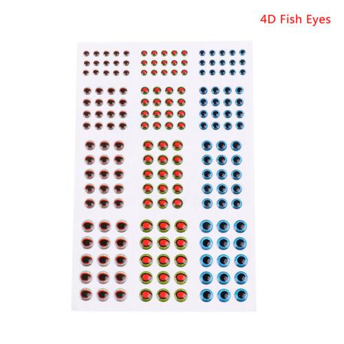 "183pcs Fish Eye 0.39/"" 3D 4D 5D Holographic Lure Fish Eyes Fly Tying Jigs Cra  gb"