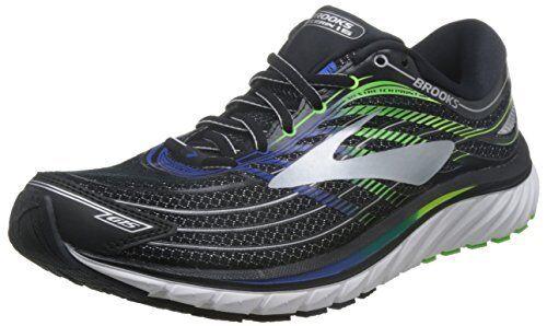 Brooks 1102581D Mens GlycerinBlack/Electric Blue/Green Gecko Athletic Shoe