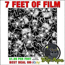 Hydrographic Film Skulls Thunder Struck Hydro Dipping 7 X 20 Dip Ape