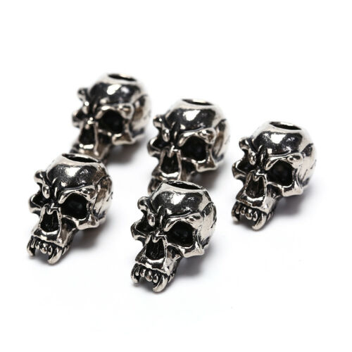 5Pcs//Lot Paracord Beads Metal Skull For Paracord Bracelet Accessories PB