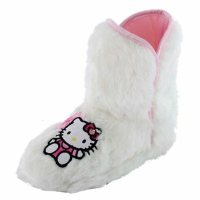 Great Gift 69847 Hello Kitty Slipper Boot Girls White Furry