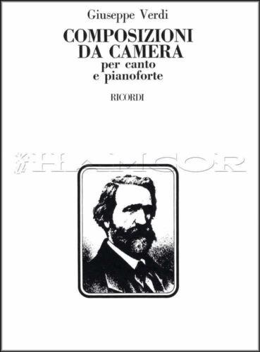 Verdi Composizioni Da Camera Voice /& Piano Sheet Music Book Chamber Compositions