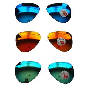 RAY-BAN-REPLACEMENT-LENSES-AVIATOR-POLARIZED-3025-112-58mm-Mirror-choose-color