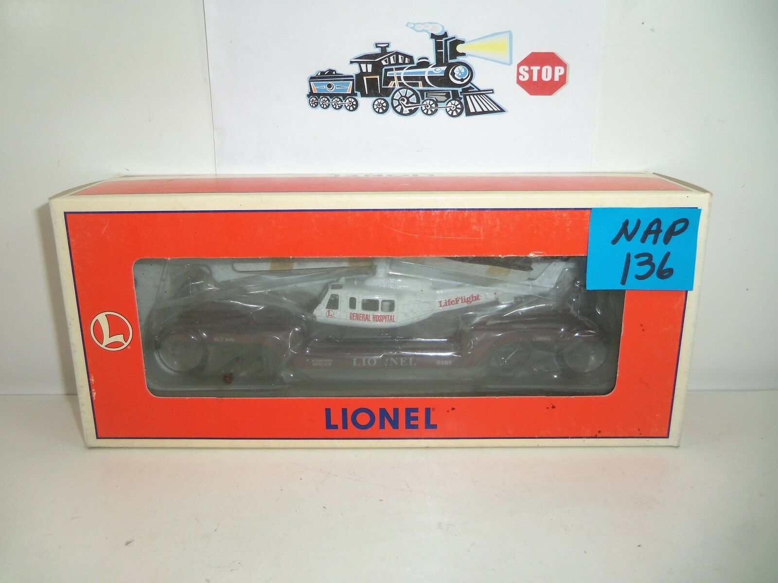 Lionel 6461 Aviation Flatcar w Ertl Helicopter NOS NAP-136