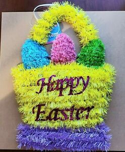 Cute Adorable Easter Egg Basket Wall Decoration Wall Hanging Happy Easter