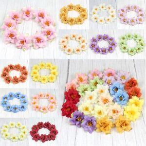 50X-Artificial-Silk-2-034-Rose-Flower-Heads-DIY-Craft-For-Home-RoomFake-flower-Decor