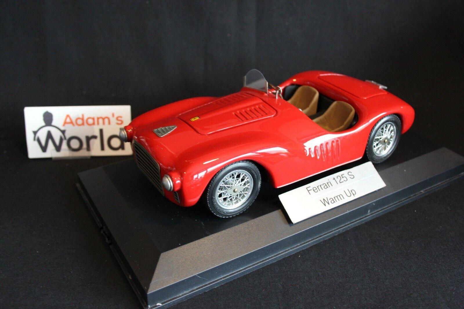 Warm Up hand built Rossa (Ferrari) 125 S 1947 1 18 rouge (PJBB)