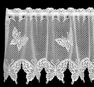 Heritage Lace White Butterflies Window Valance Ebay