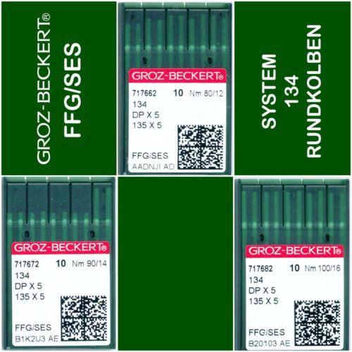 Groz-BECKERT microfibra jersey vaqueros FFG ses 134 135x5 dpx5 máquinas agujas