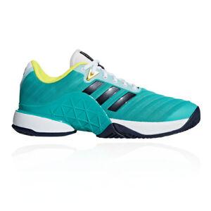 0bd4918679e5 adidas Mens Barricade 2018 Tennis Shoes Blue Green Sports Breathable ...