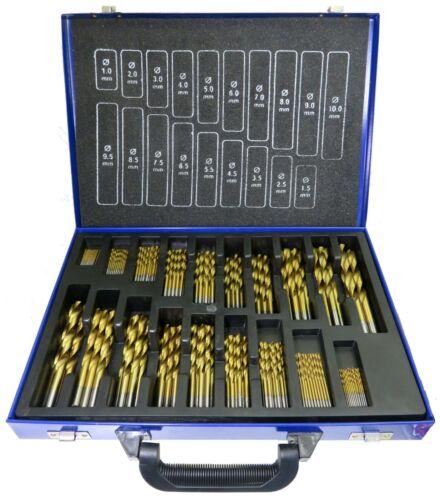 HSS Spiralbohrer Set 150tlg Bohrer Stahlbohrer Metallbohrer 1-10 mm Satz Koffer