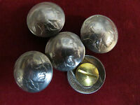Conchos: 5 Real Coin indian Nickel, Post & Screw