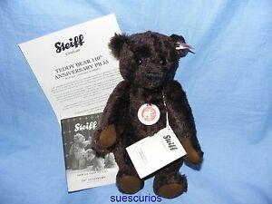 STEIFF-Ours-en-peluche-110th-anniversaire-PB55-marron-EAN-036293-edition-limitee