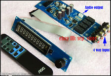Assembeld PGA2311U remote preamp board with VFD display  4 ways input    L169-74
