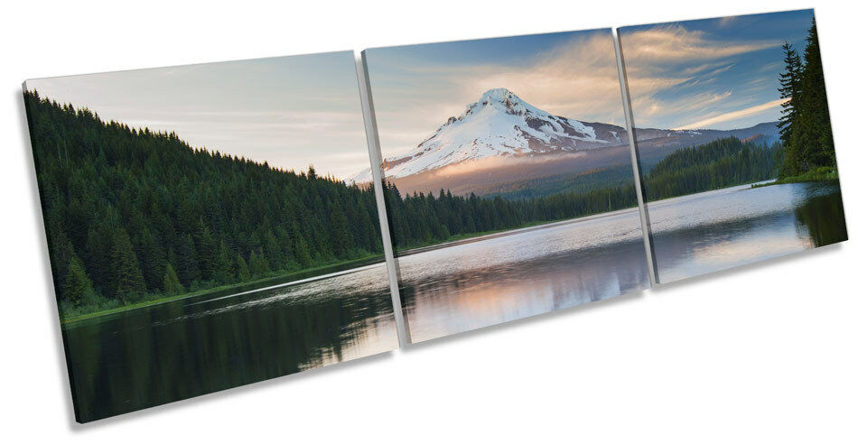 Volcano Volcano Volcano Mountain Landscape CANVAS WALL ART TREBLE Box Frame Print d345d1