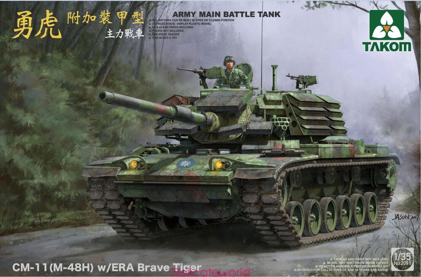 Takom 2091 1 35 R.O.C. Army MBT CM-11 (M-48H) Brave Tiger w ERA