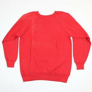 Vtg-90s-Pannill-Raglan-Sweatshirt-MEDIUM-Faded-Sun-Streaked-Red-USA-Grunge-Surf